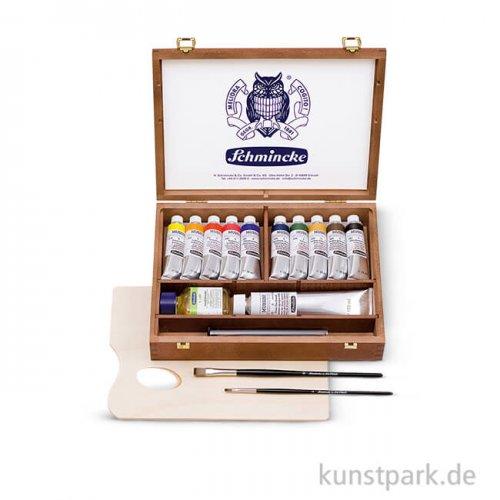 Schmincke MUSSINI - Dunkler Holzkasten 10x35 ml, Zubehör