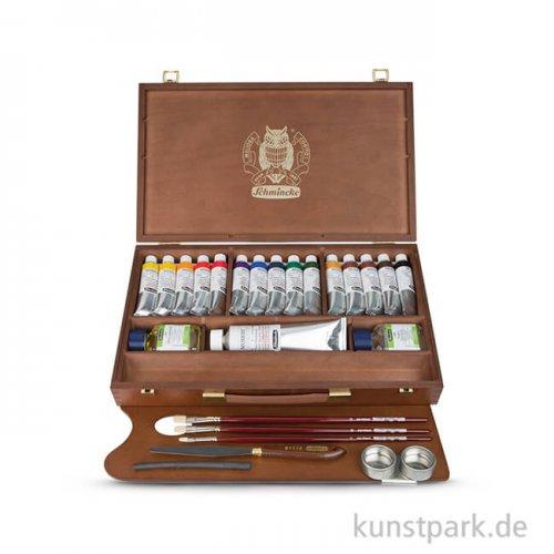 Schmincke MUSSINI - Großer Holzkasten 15x35 ml, Zubehör