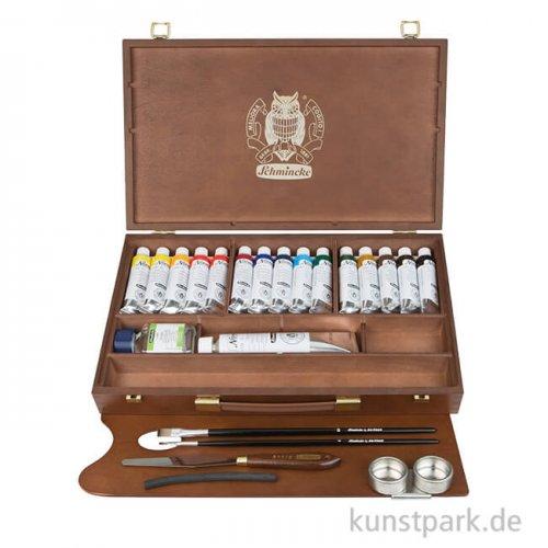 Schmincke NORMA Ölfarbe 15 x 35 ml großer Holzkoffer + Zubehör