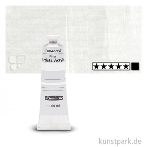 Schmincke PRIMAcryl Acrylfarben 60 ml | 101 Titanweiss