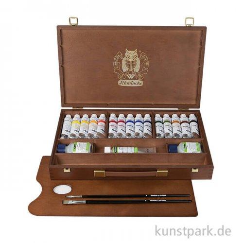Schmincke PRIMAcryl Acrylfarben 15 x 35 ml im Holzkasten + Zubehör