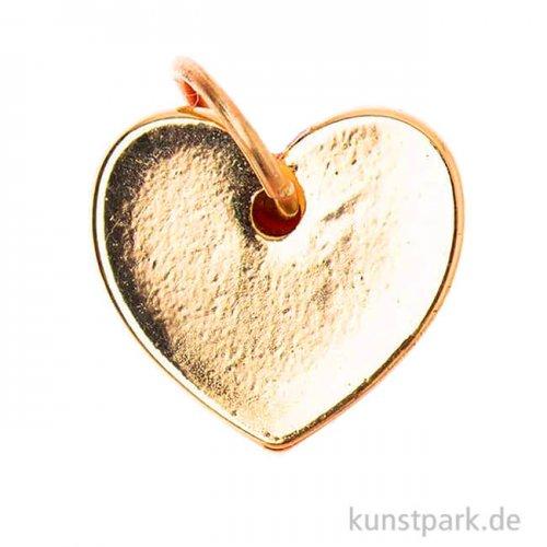 Schmuck-Anhänger - Herz, Gold