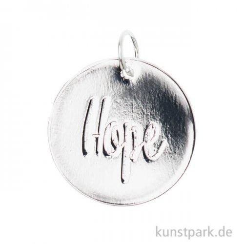 Schmuck-Anhänger Scheibe - Hope, Silber