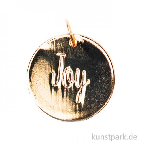 Schmuck-Anhänger Scheibe - Joy, Gold