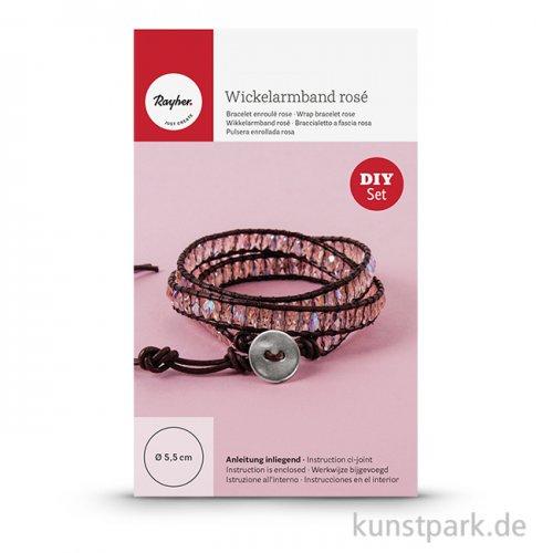 Schmuck Starter-Set Wickelarmband - rosé