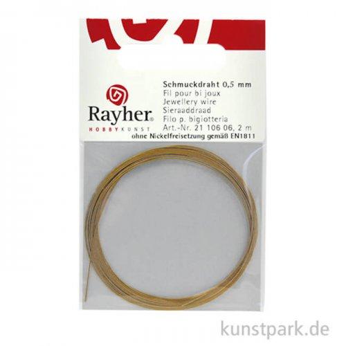 Schmuckdraht Matt - 0,5 mm