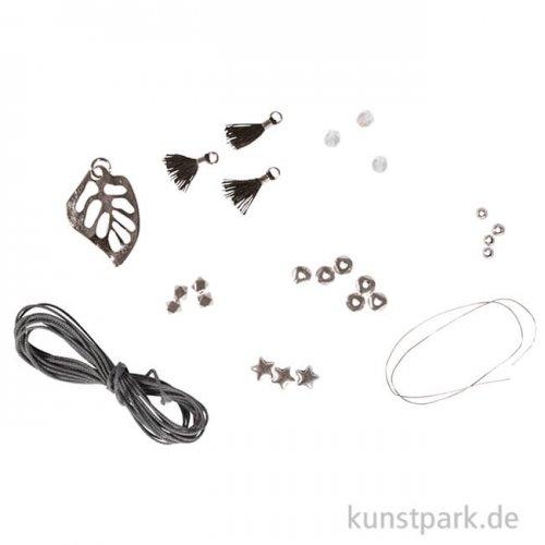 Schmuckset - Vaia Monsterablatt für 1 Kette und 1 Armband