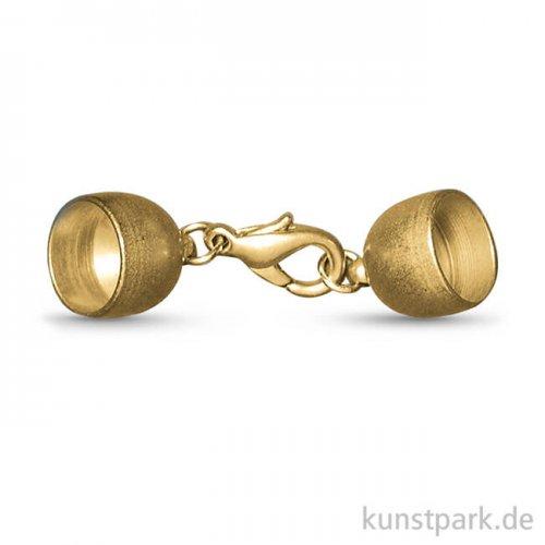 Schmuckverschluss - Gold Matt 5 mm