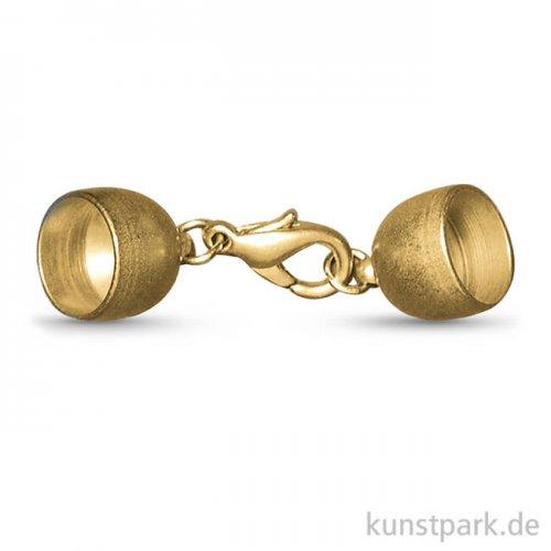 Schmuckverschluss - Gold Matt 7 mm