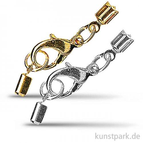 Schmuckverschluss montiert für 2 mm Bänder, 1Stück