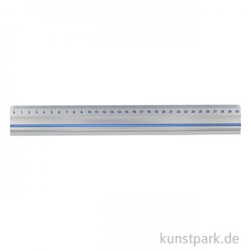 Schneidelineal aus Aluminium 30 cm