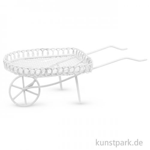 Mini Schubkarre - Elfenbein, 4,8x13 cm
