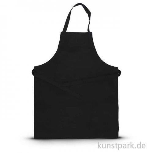 Schürze schwarz aus Baumwolle, Größe 55x70 cm