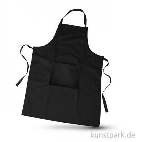 Schürze schwarz aus Baumwolle, Größe 66x89 cm