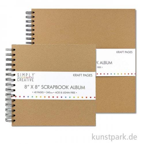 Scrapbook Album Plain, 40 Seiten