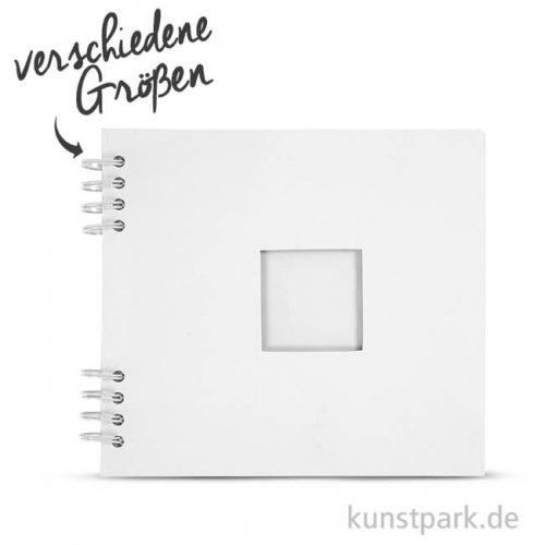 Scrapbook-Album weiß, spiralgebungen, 20 Blatt, 250 g