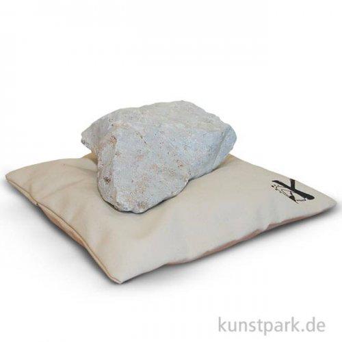 Segeltuchkissen zur Specksteinbearbeitung, 45x45 cm