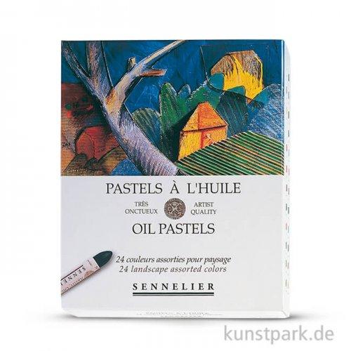 Sennelier feinste Ölpastellstifte - Landschaft-Set mit 24 Stiften