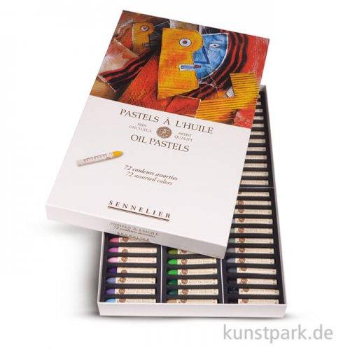 Sennelier feinste Ölpastellstifte - Universal-Set mit 72 Stiften