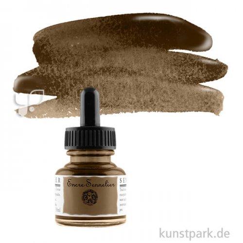 Sennelier Schellacktusche 30 ml   453 Nussbraun