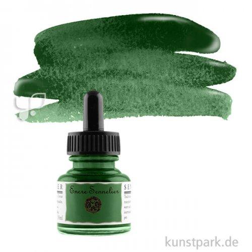 Sennelier Schellacktusche 30 ml | 813 Olivgrün