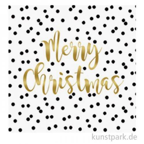 Servietten Christmas Confetti - 33 x 33 cm