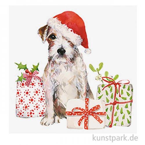 Servietten Christmas Pup - 33 x 33 cm