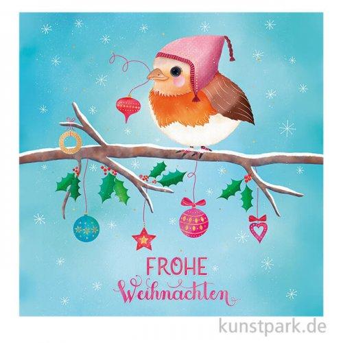 Servietten Frohe Weihnachten - 33 x 33 cm