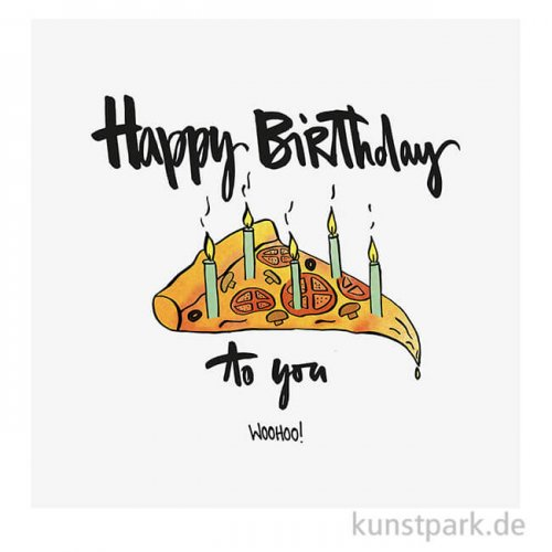 Servietten Happy Birthday - 33 x 33 cm