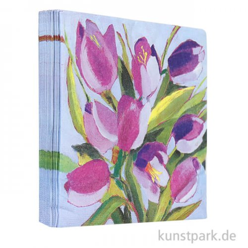 Servietten Tulips Musée - 33 x 33 cm