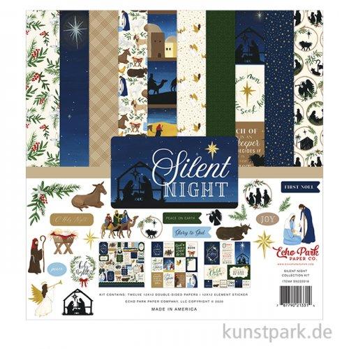 Silent Night - Paper & Sticker Set, 13 Blatt