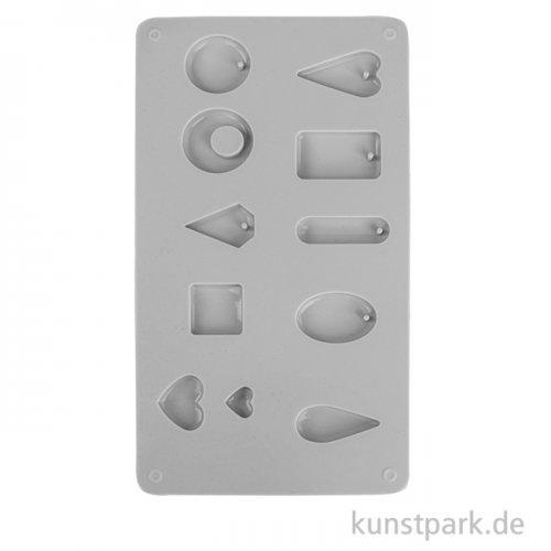 Silikon-Gießform für kleine Anhänger mit 11 Formen