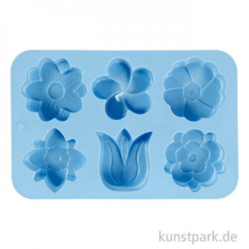 Silikon-Gießform - Blumen