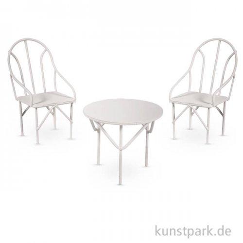 Sitzgruppe Miniatur 3-teilig - Weiß, 1 Set