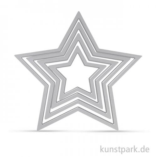 Sizzix Framelits Schablonen Set - Sterne