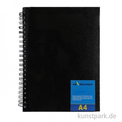 Sketchbuch - Basic, DIN A4 mit Doppelspiralbindung, 60 Blatt, 140 g