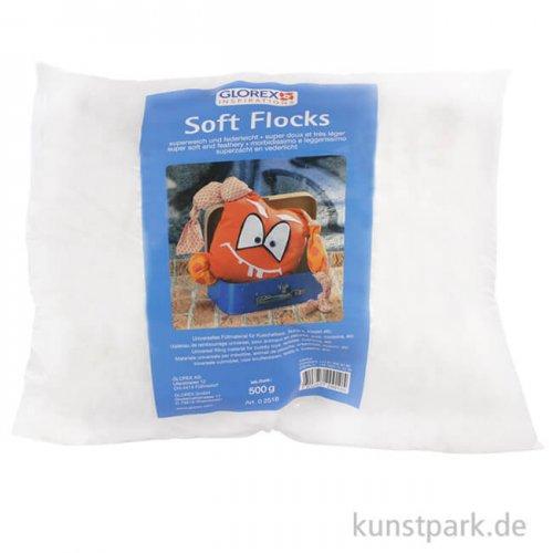 Soft-Flocks - weiße Füllwatte-Flocken, 500g