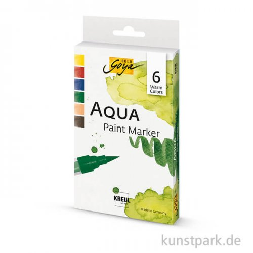Solo Goya AQUA Paint Marker 6er Set - Warm Colors