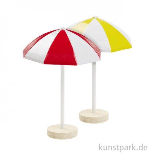 Mini Sonnenschirm aus Kunststoff, ca. 6 cm