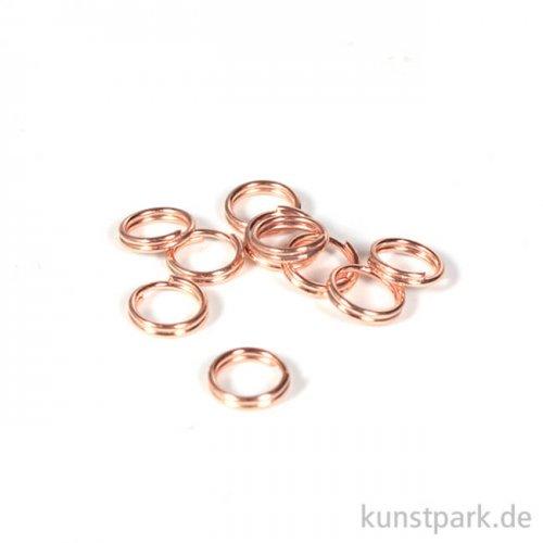 Spaltring - Roségold, 7 mm, 10 Stück