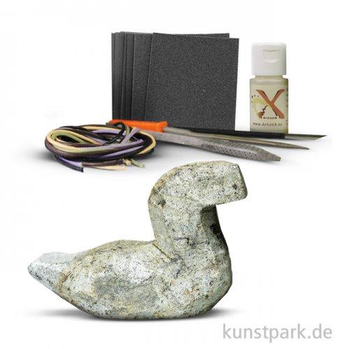 Speckstein Set - Ente mit Zubehör