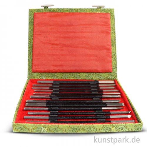 Specksteinmeißel Set BASIC Nr. 3 im Holzkästchen