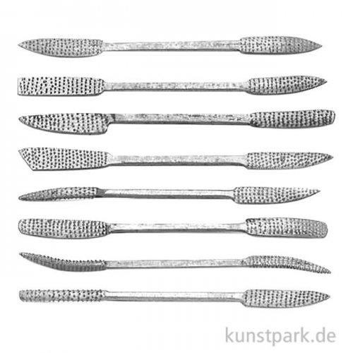 Specksteinwerkzeug-Set Raspel, 8 teilig 24 cm