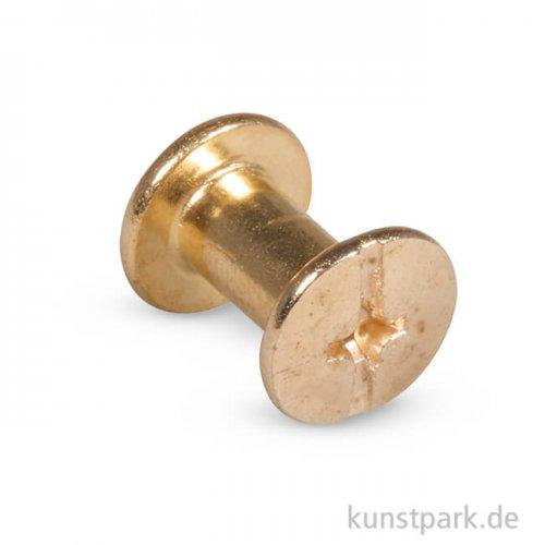 Spezial-Befestigungsschrauben - Pin & Peg, Gold, 8 Stück