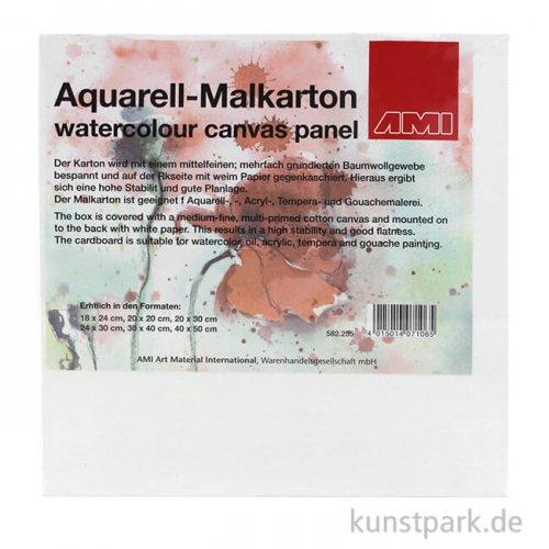 Aquarell - Malkarton, mittelfein, spezialgrundiert 20 x 20 cm