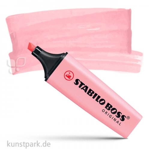 STABILO BOSS Pastell Textmarker Einzelstift   Rosiges Rouge