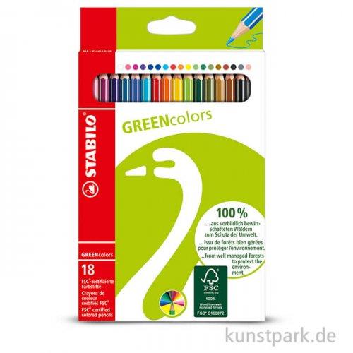 STABILO GREENcolors Buntstift 18er Etui