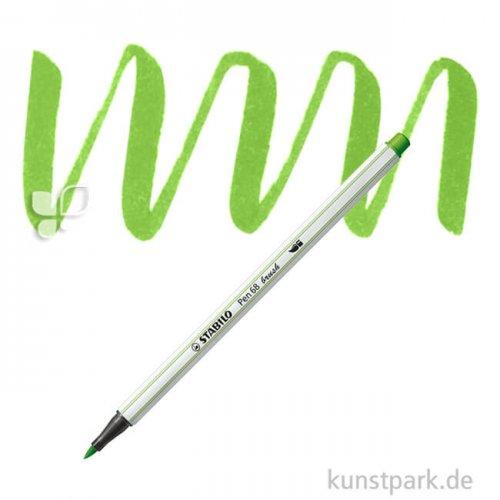 STABILO Pen 68 brush Einzelfarben Filzstift   Laubgrün
