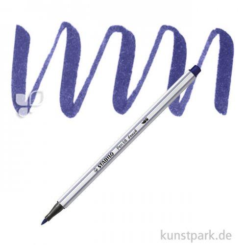 STABILO Pen 68 brush Einzelfarben Filzstift | Preußischblau