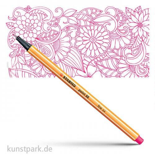 STABILO Point 88 Fineliner Einzelstift | Pink